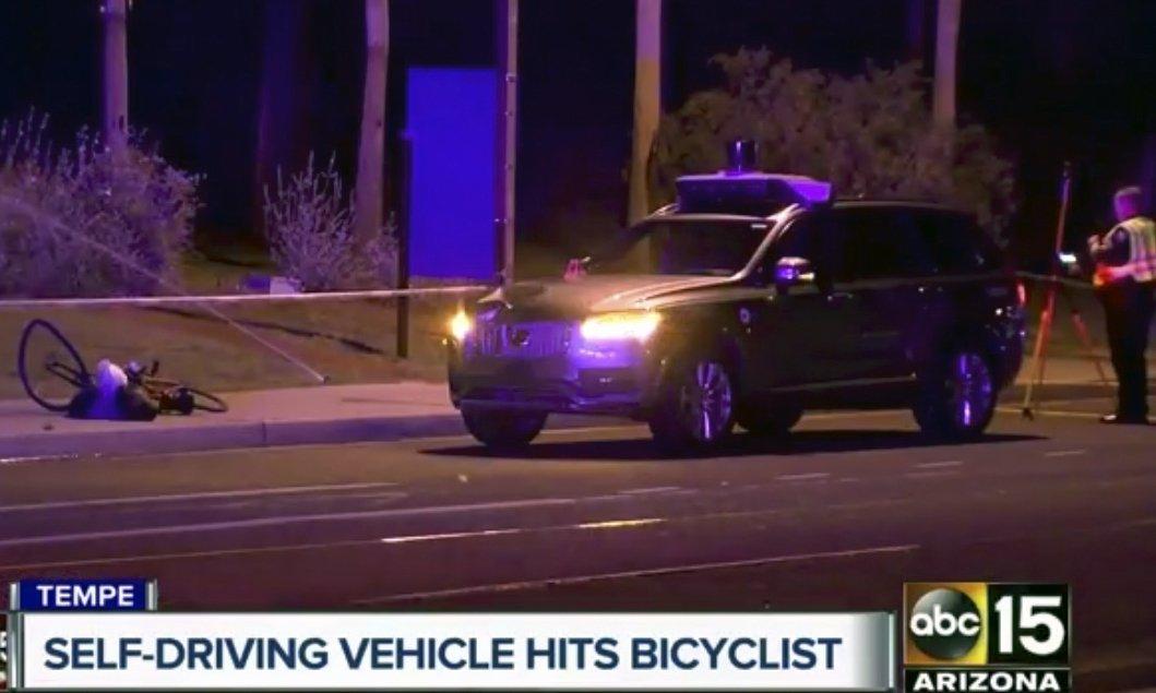 Police test lighting in probe of Uber self-driving crash