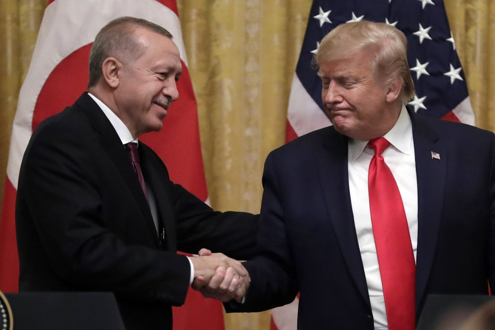 Turkish President Recep Tayyip Erdogan and U.S. President Donald Trump discuss by phone the coronavirus pandemic, bilateral relations and regional developments