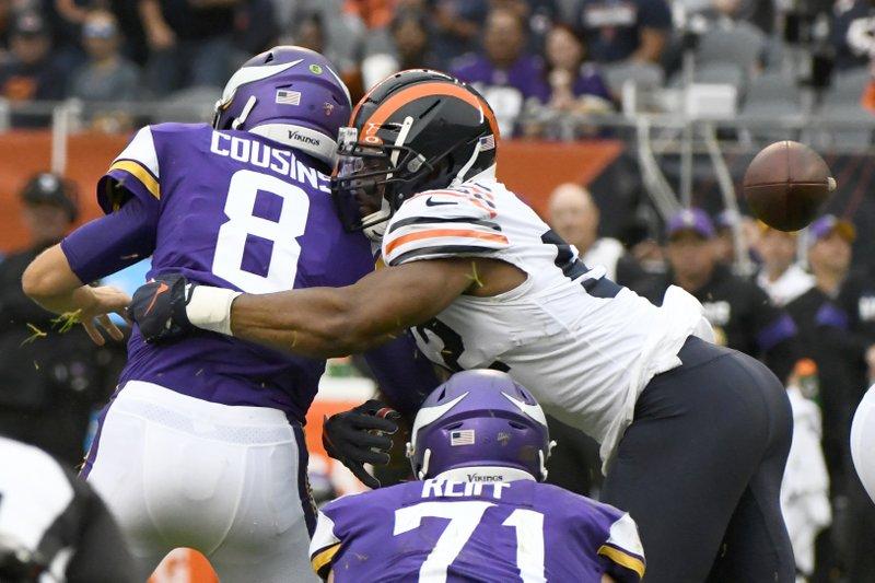 Cousins Vikings Shut Down By Banged Up Bears