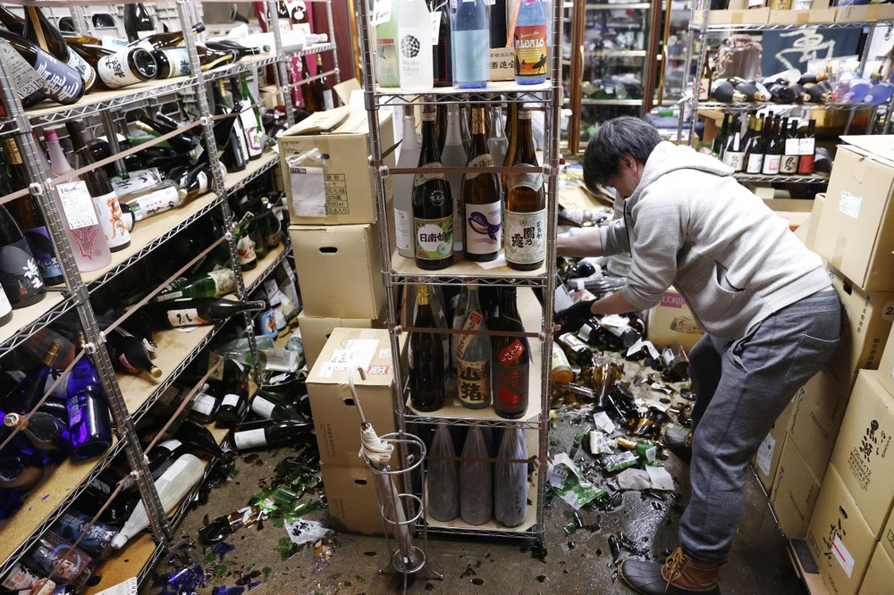 Strong earthquake hits Japan's northeast coast; no threat of tsunami