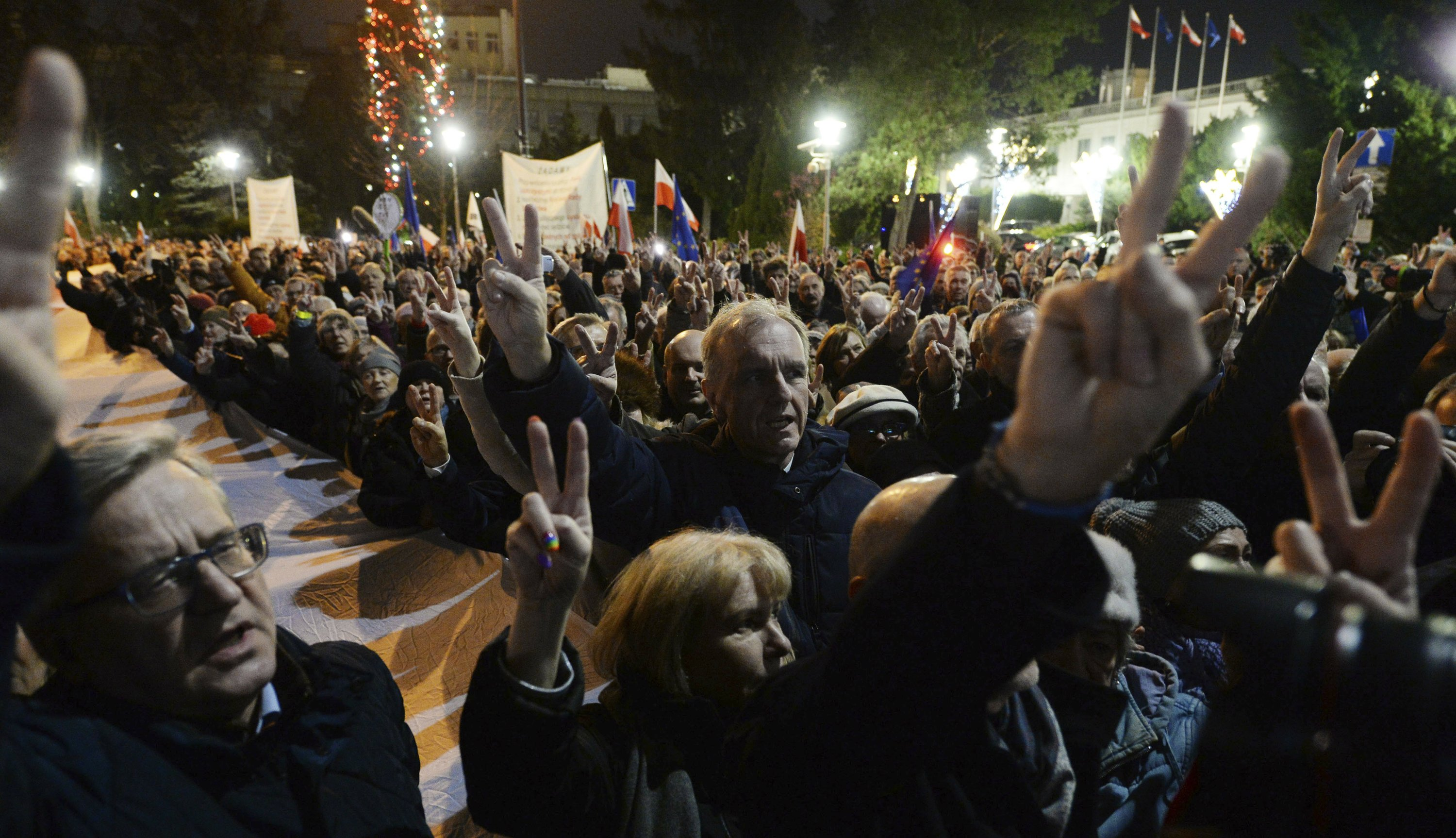 Mass protests erupt across Poland over plan to punish judges