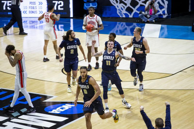 No. 15 Oral Roberts shocks No. 2 Ohio State in first big upset of NCAA Tournament