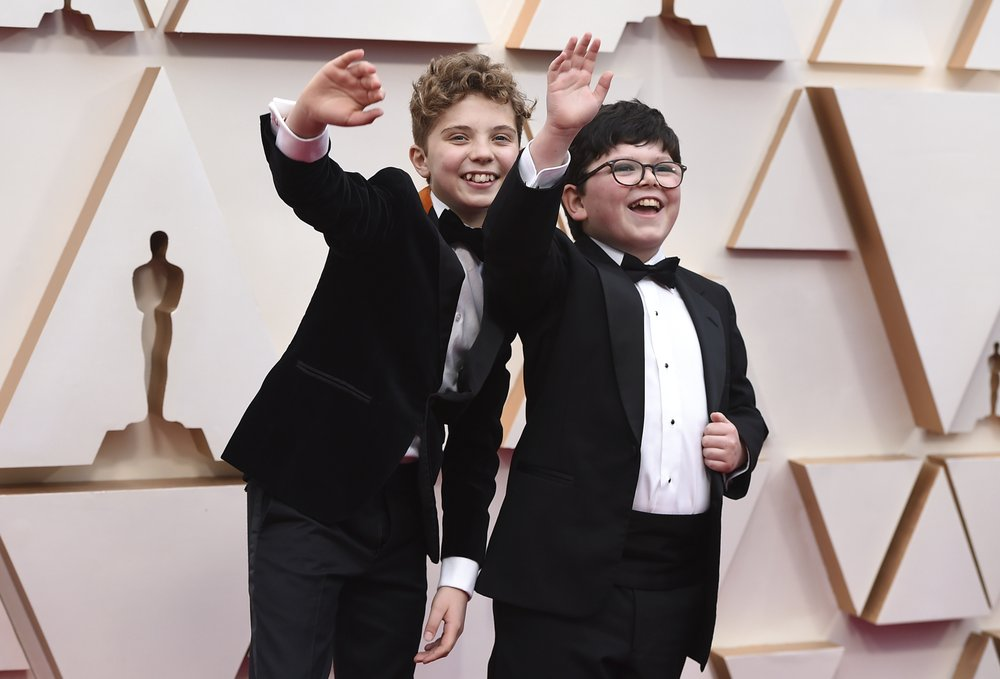The Latest: 'Jojo Rabbit' actors ham it up on Oscars carpet