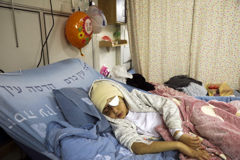 Palestinian boy shot by Israeli police loses sight in eye