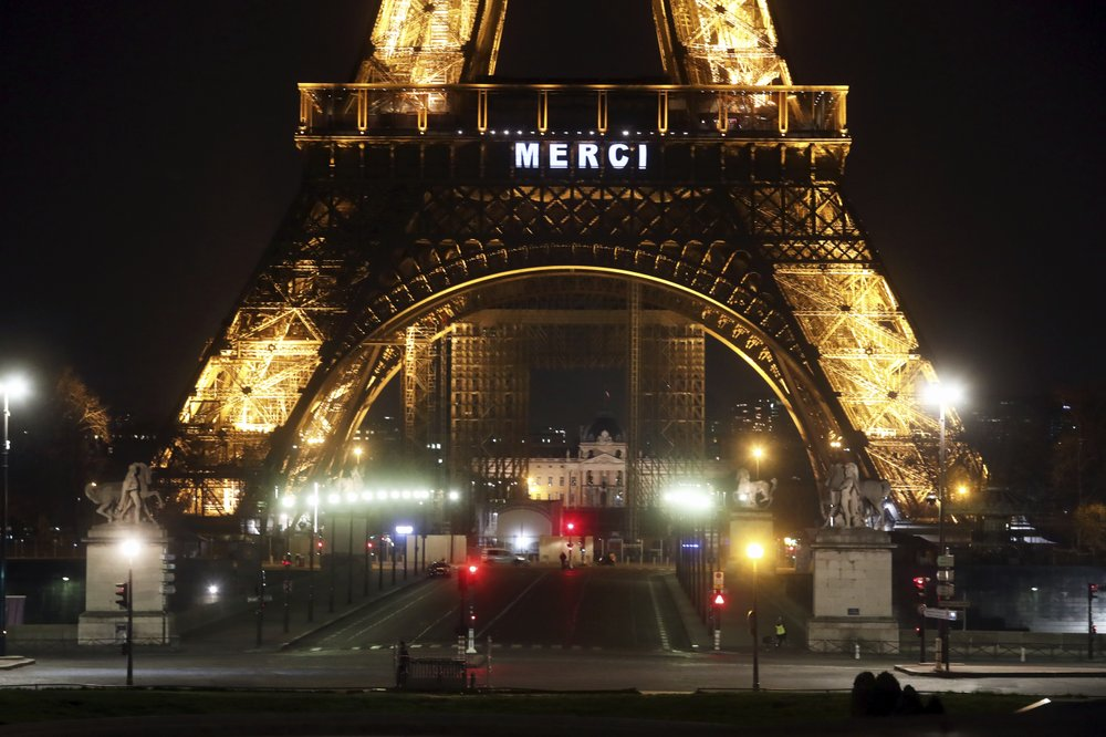 Eiffel Tower helps to show gratitude to healthcare workers risking their lives to save others