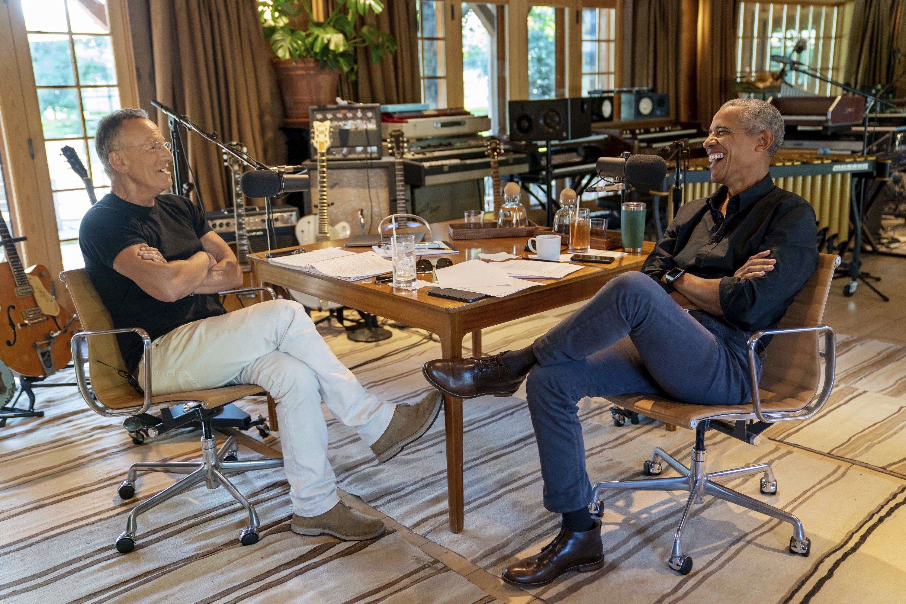 Podcast odd couple: Obama, Springsteen in Spotify series - Associated Press