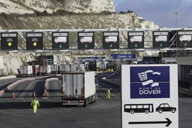 Britain lifts travel restrictions on truckers as trade recovers