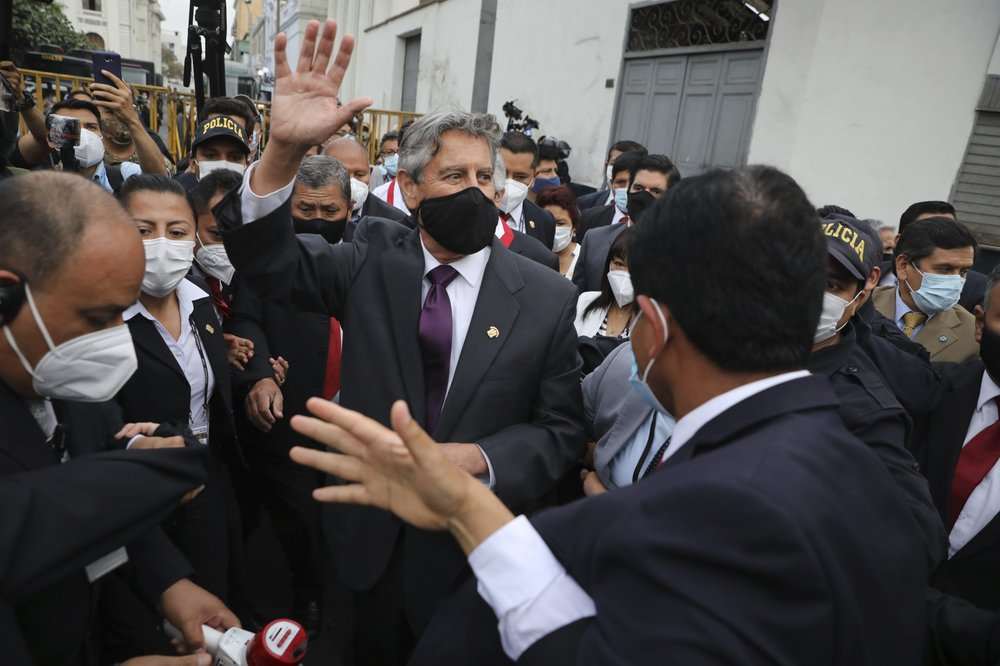 Peru's Congress selects centrist lawmaker Francisco Sagasti to be new leader