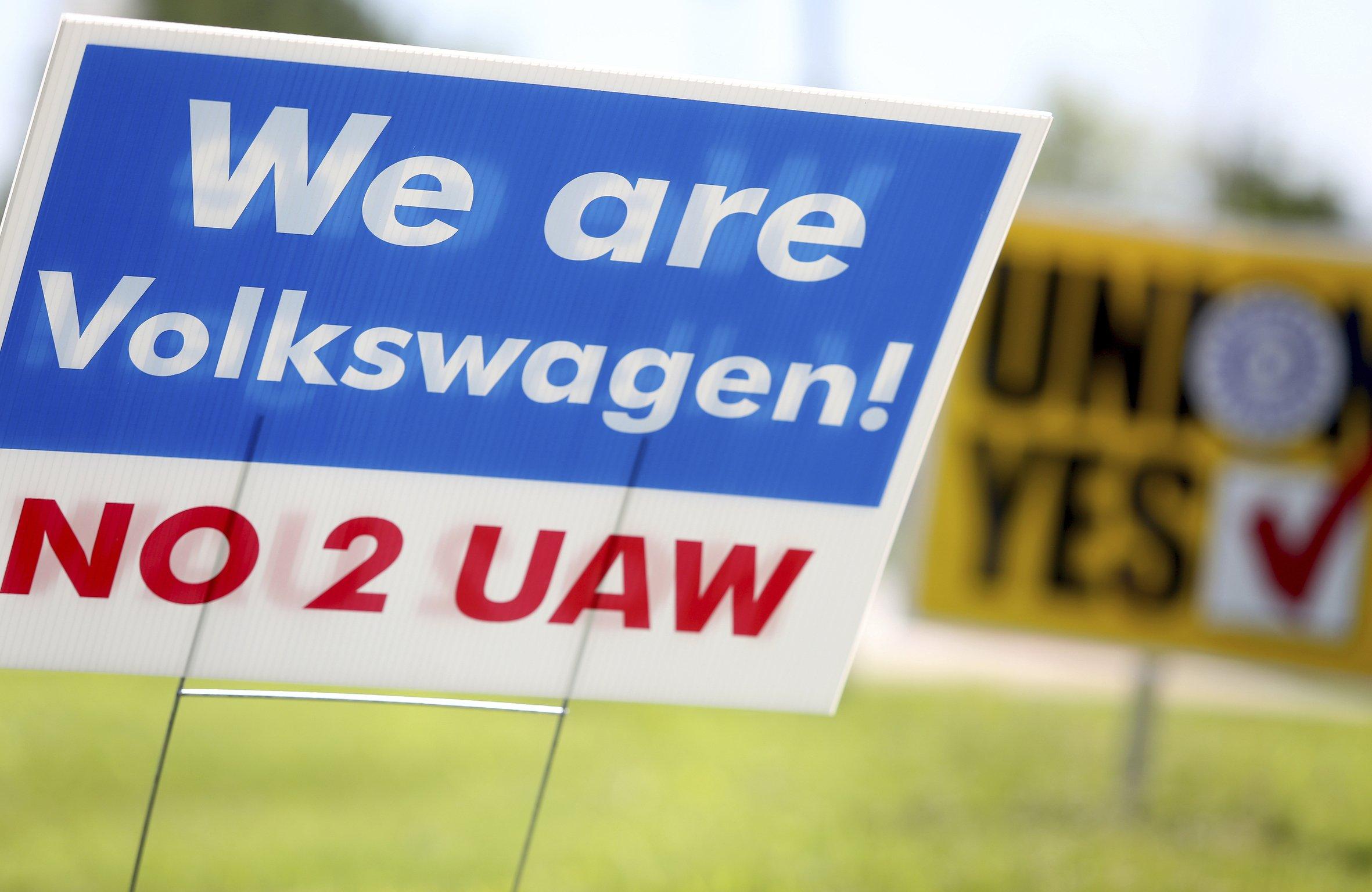 Tennessee Volkswagen plant rejects unionization