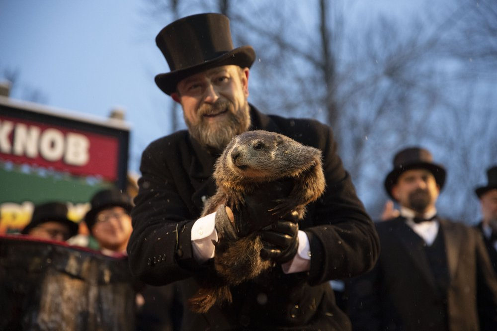 Image for Pennsylvania groundhog declares early spring 'a certainty'