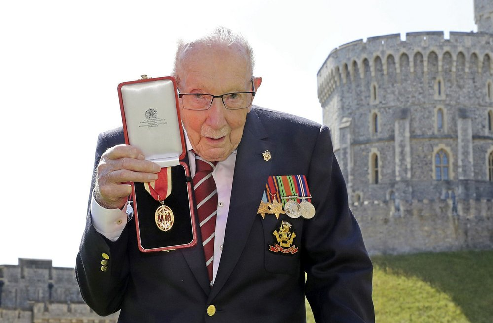 Sir Capt. Tom Moore, WWII Vet who Raised Millions for Coronavirus Healthcare Workers, Dies at 100
