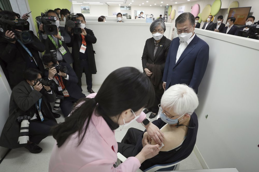 Asia Today: South Korea administered its first available shots of coronavirus vaccines