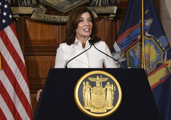 """New York Gov. Kathy Hochul Says Vaccine Was God's Answer to """"Our Prayers"""" for an End to Coronavirus Pandemic"""
