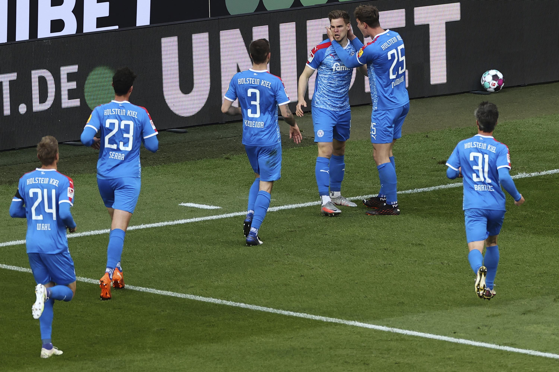 Kiel beats Cologne 1-0 in first leg of Bundesliga playoff - Associated Press