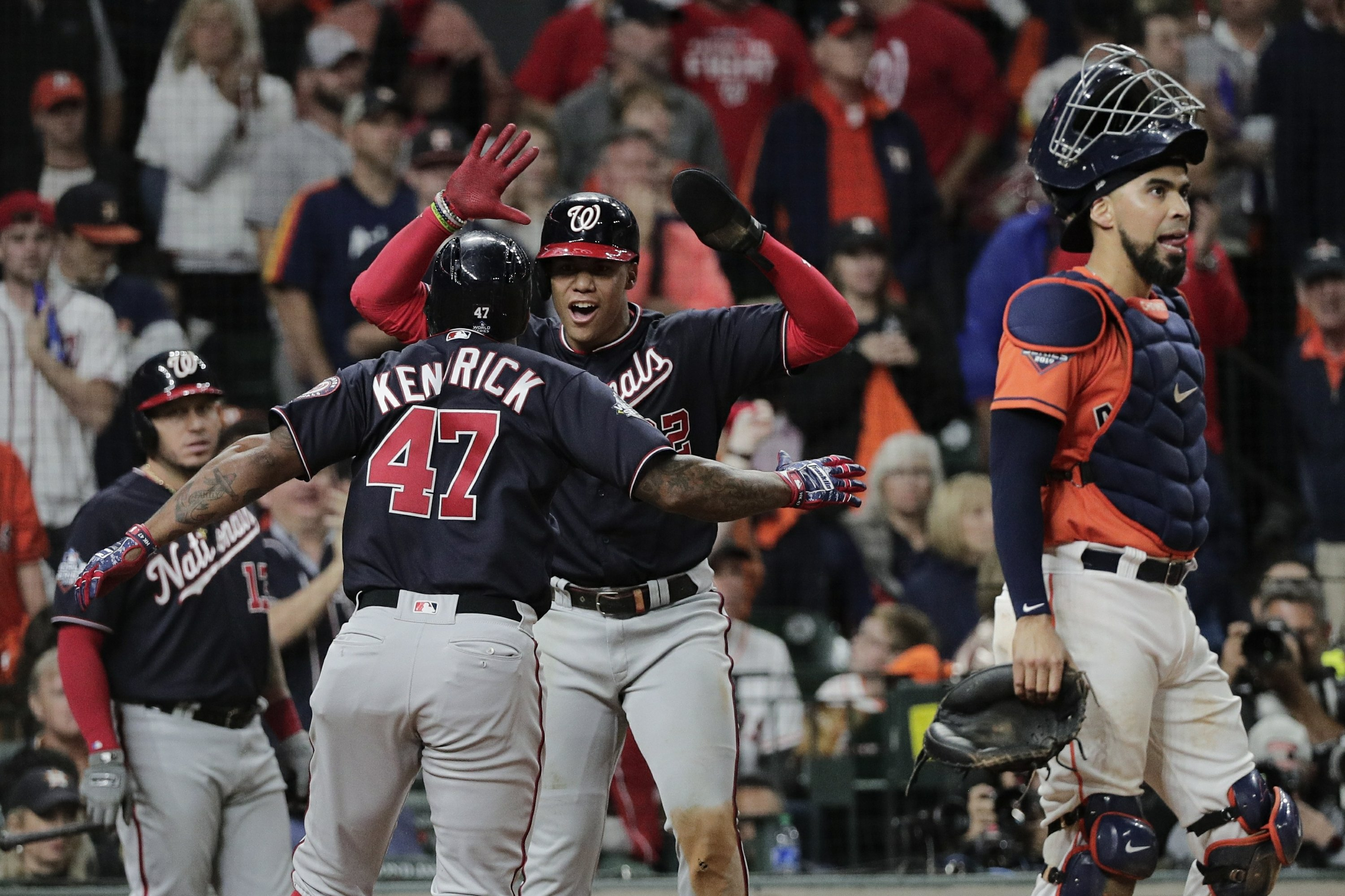 The Latest: Nats beat Astros 6-2 to win first World Series