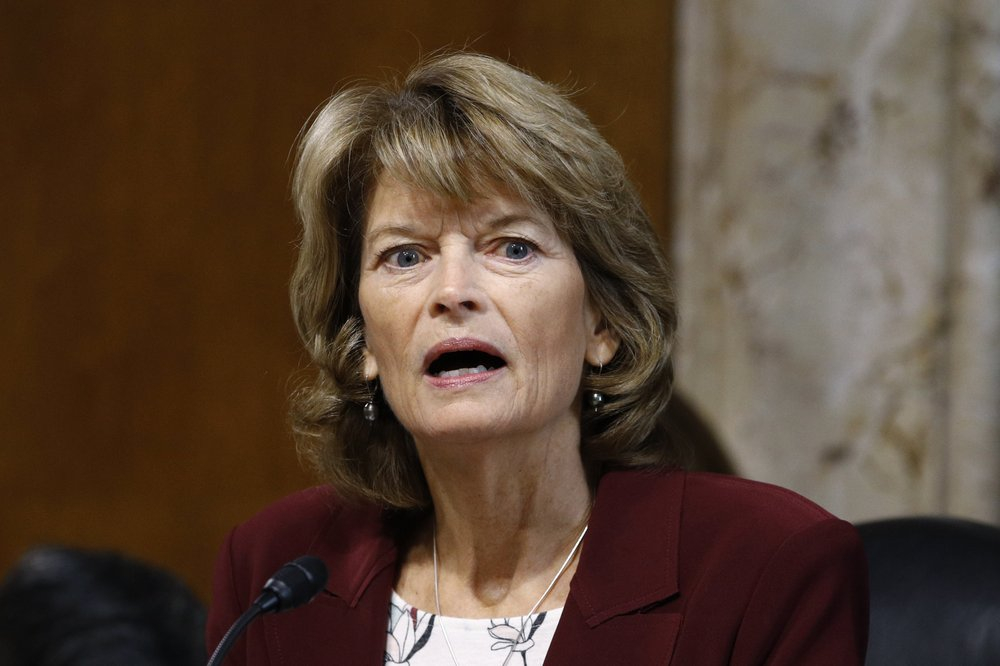FILE - In this Dec. 19, 2019, file photo, Sen. Lisa Murkowski, R-Alaska, chair of the Senate Energy and Natural Resources Committee, speaks during a hearing on Capitol Hill in Washington. (AP Photo/Patrick Semansky, File)