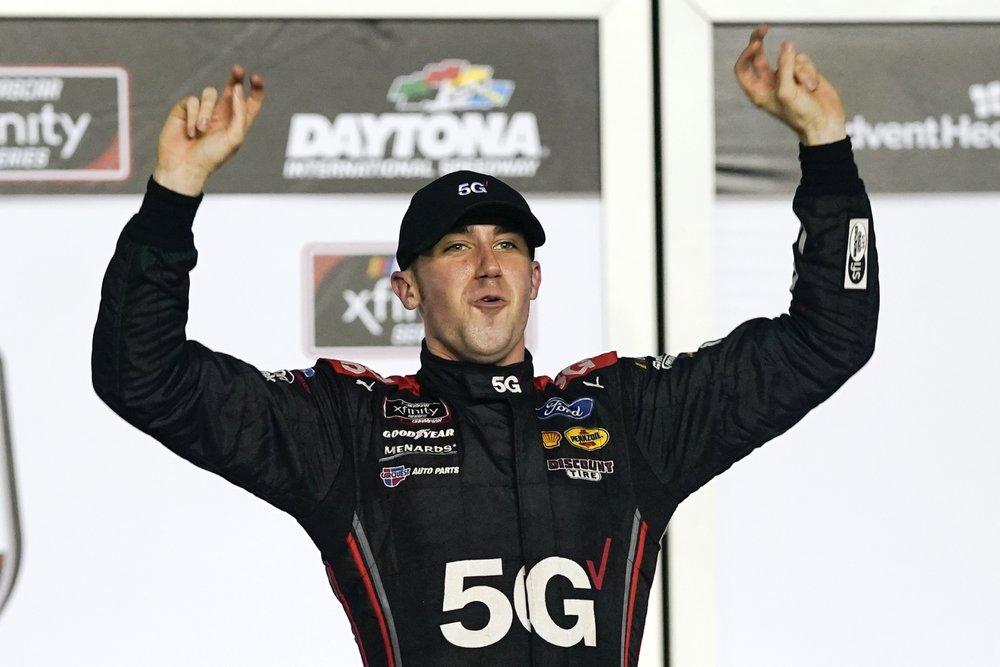 Austin Cindric starts new season with 2nd Xfinity win at Daytona International Speedway