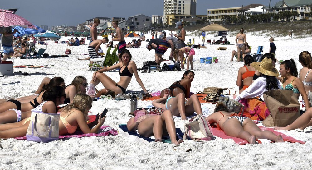 It's spring break and the young people don't see the danger looming around the corner