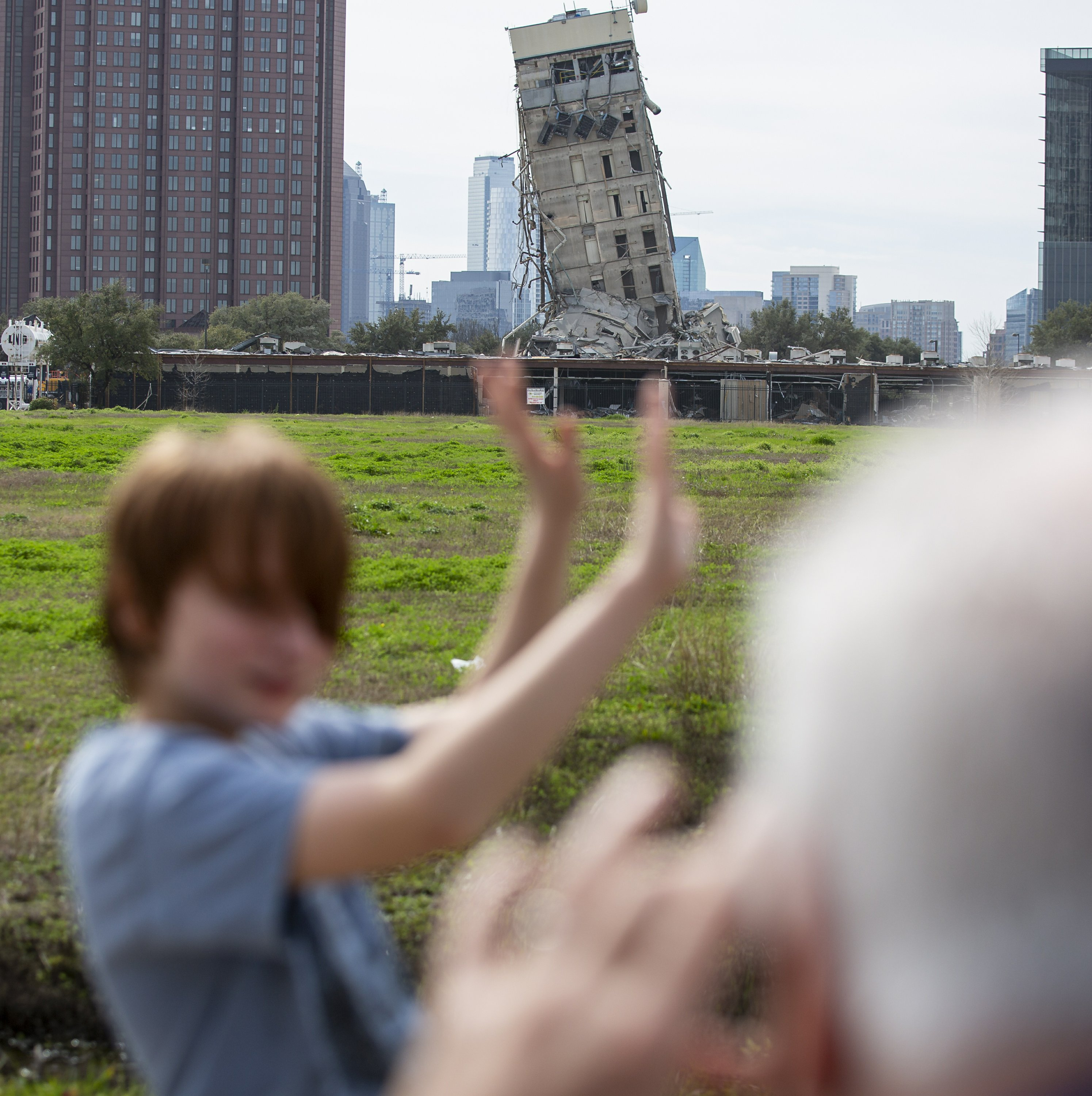 'Leaning Tower of Dallas' is online star after implosion