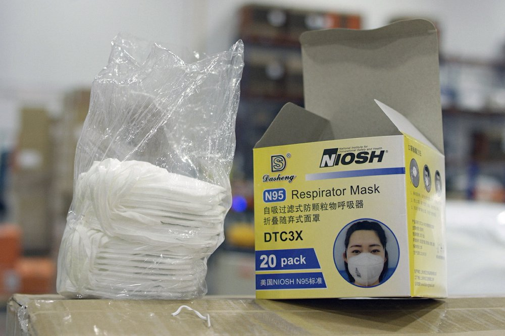 A cargo plane landed at the Los Angeles International Airport with counterfeit masks for frontline health workers in US