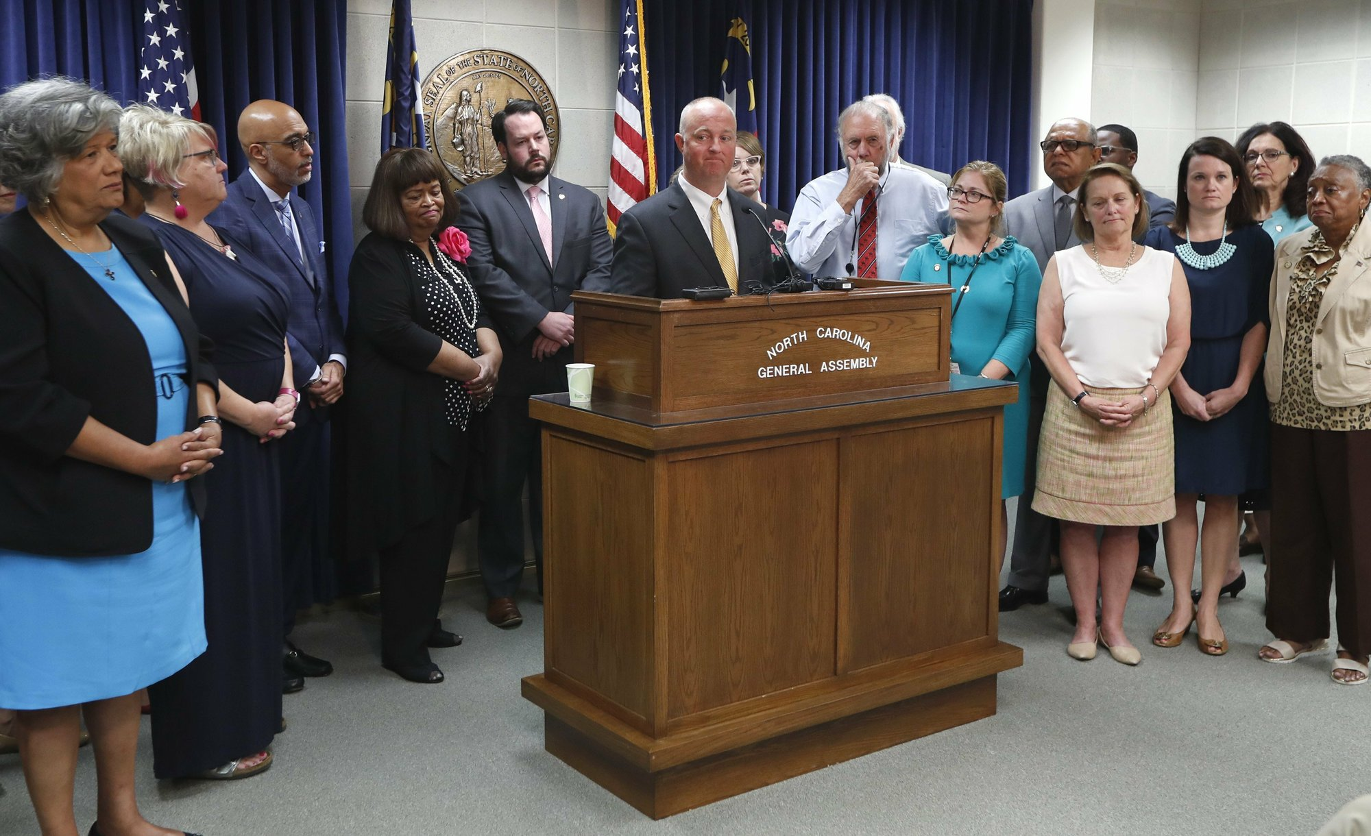 The Latest: NC House Republicans defend veto override action