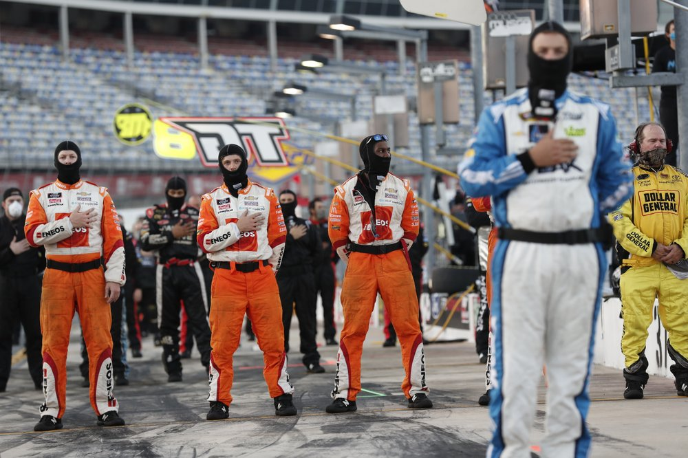 Chase Elliott bows to the camera after victory win; walks away with $100,000