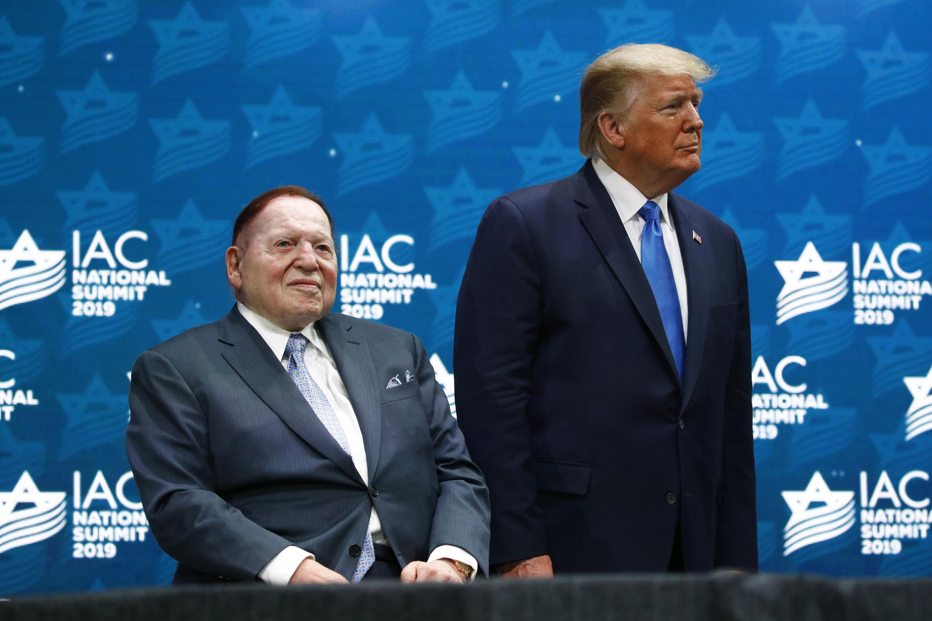 Trump Pence and Reid react to death of Sheldon Adelson – Associated Press
