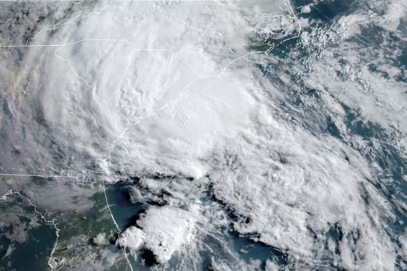 Tropical Storm Bertha hits South Carolina coast