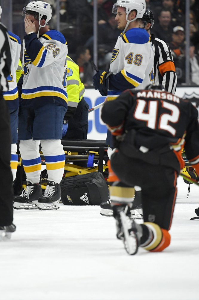Blues' D Bouwmeester undergoing tests after cardiac episode