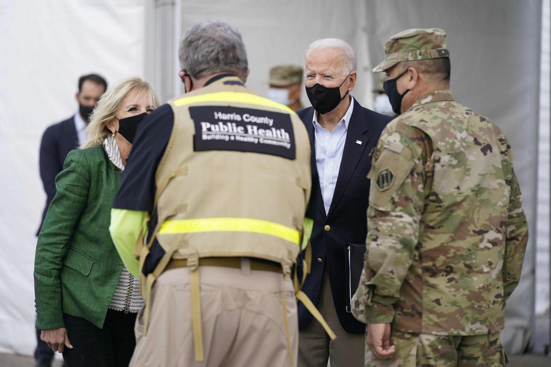 Biden surveys Texas weather damage, encourages virus shots - The Associated Press