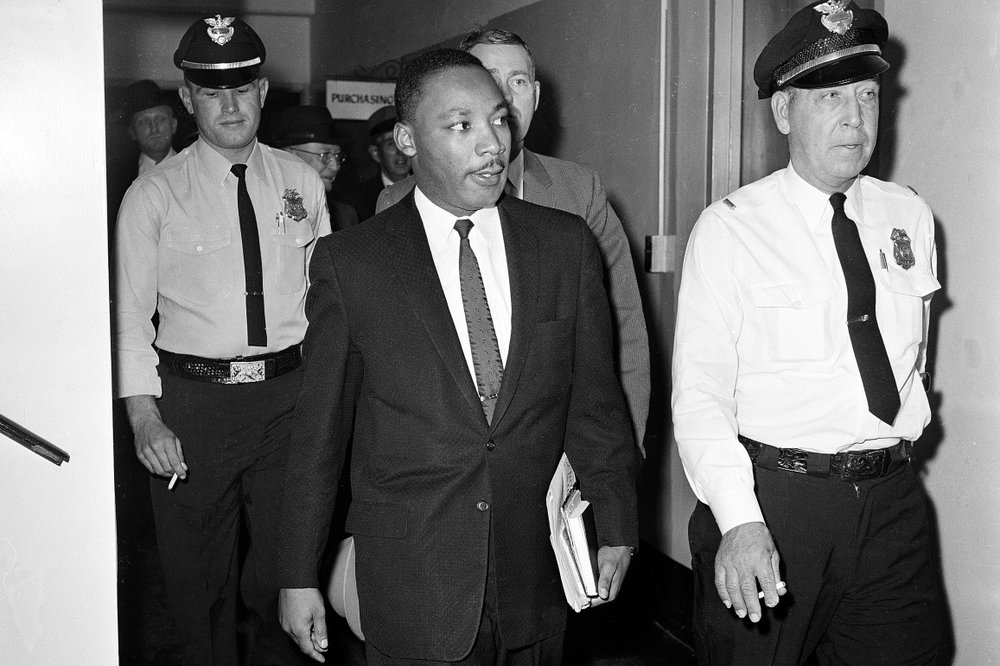 Martin Luther King Jr., and his citation on May 4, 1960, led to him being sentenced, illegally, but this changed the course of American history