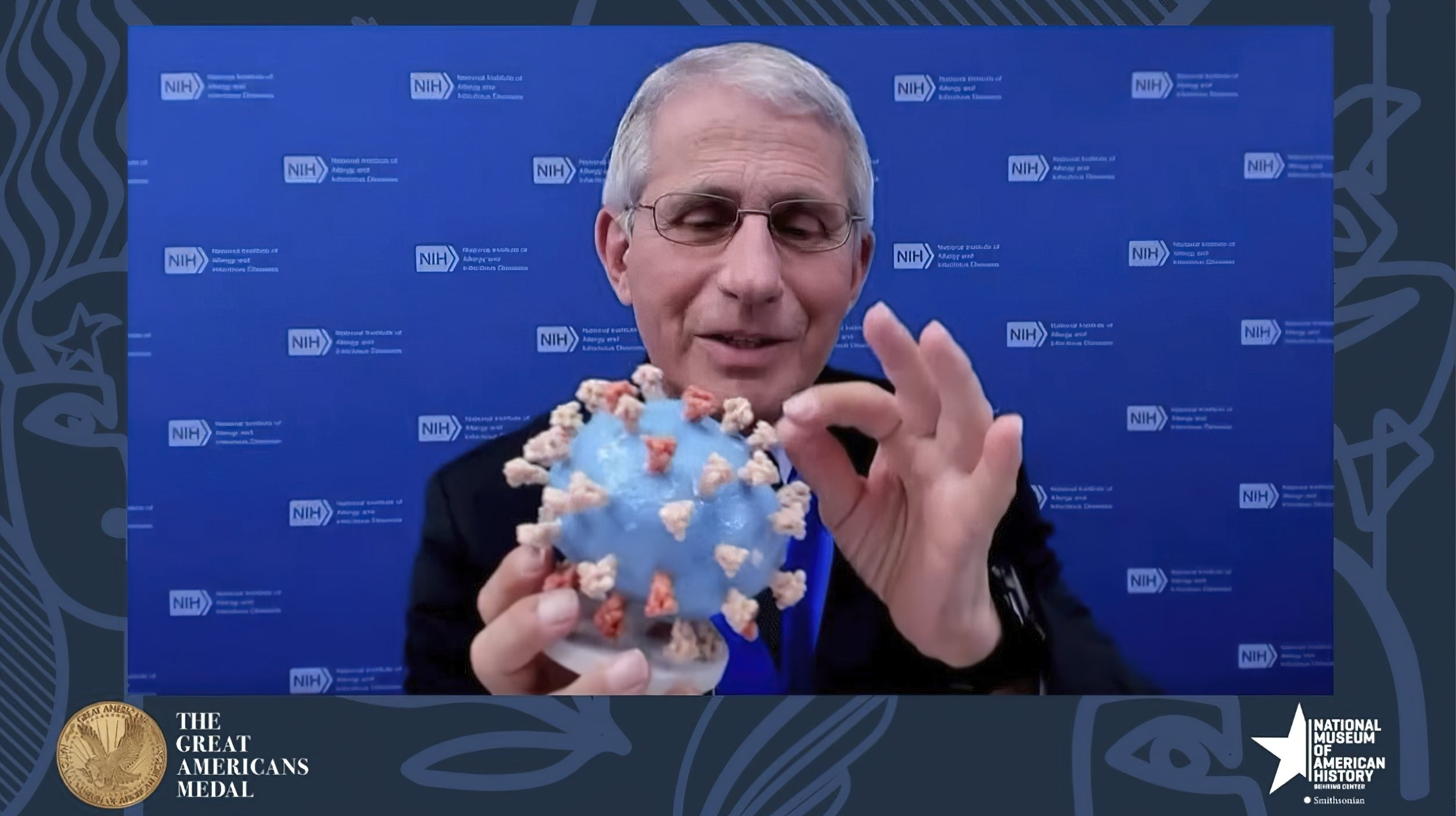 Fauci presents his personal virus model to Smithsonian - Associated Press