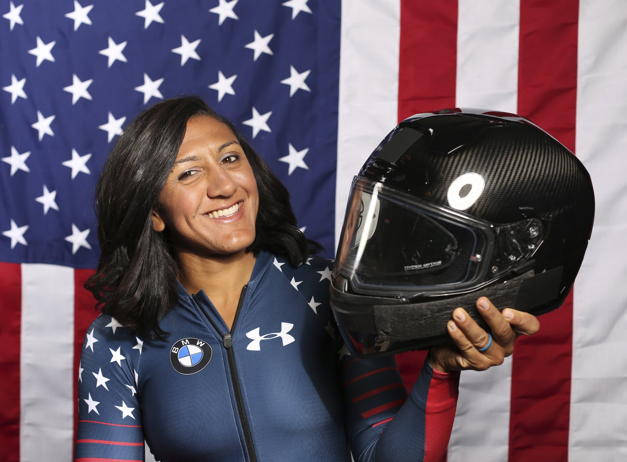 Humphries serves as forerunner at USA Bobsled push race