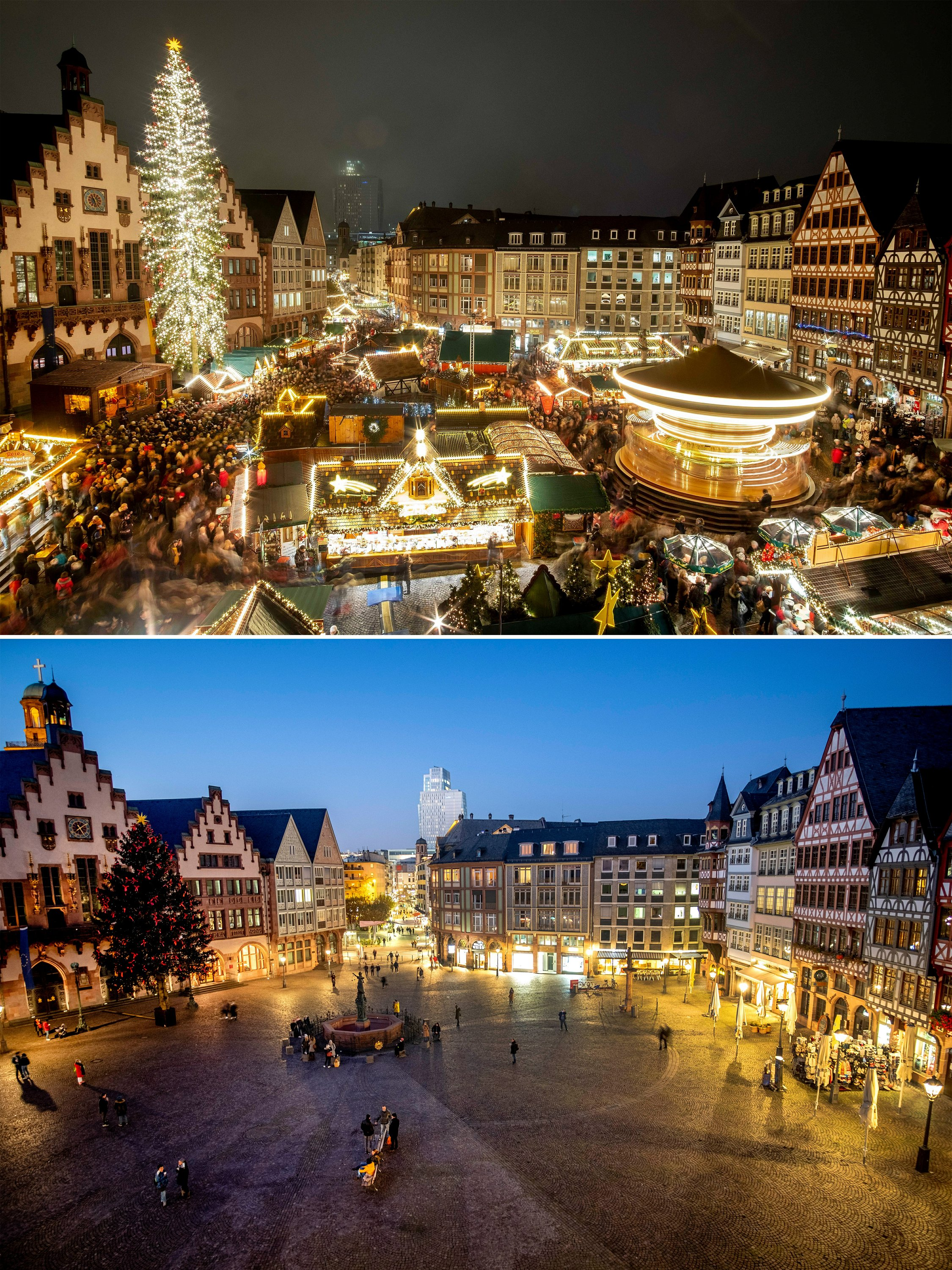 AP PHOTOS: Pandemic calls off Christmas markets in Europe