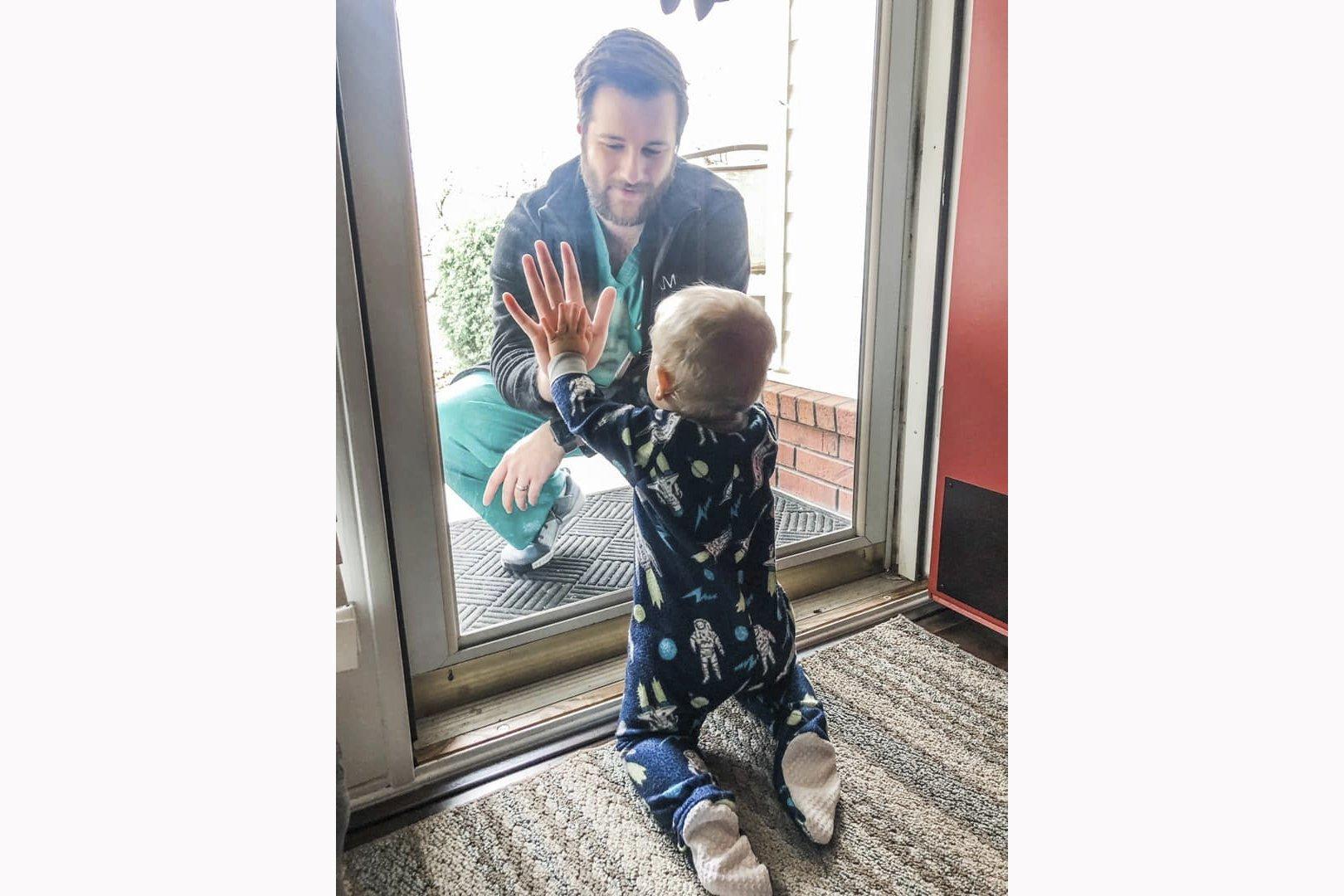 Father-son photo taken days before tornado destroys home