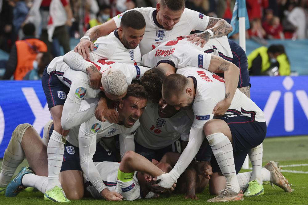 England'Harry Kane's Extra-time Penalty Rebound Goal Seals Epic 2-1 Win Over Denmark and Puts Three Lions Into their First Major Final Since 1966