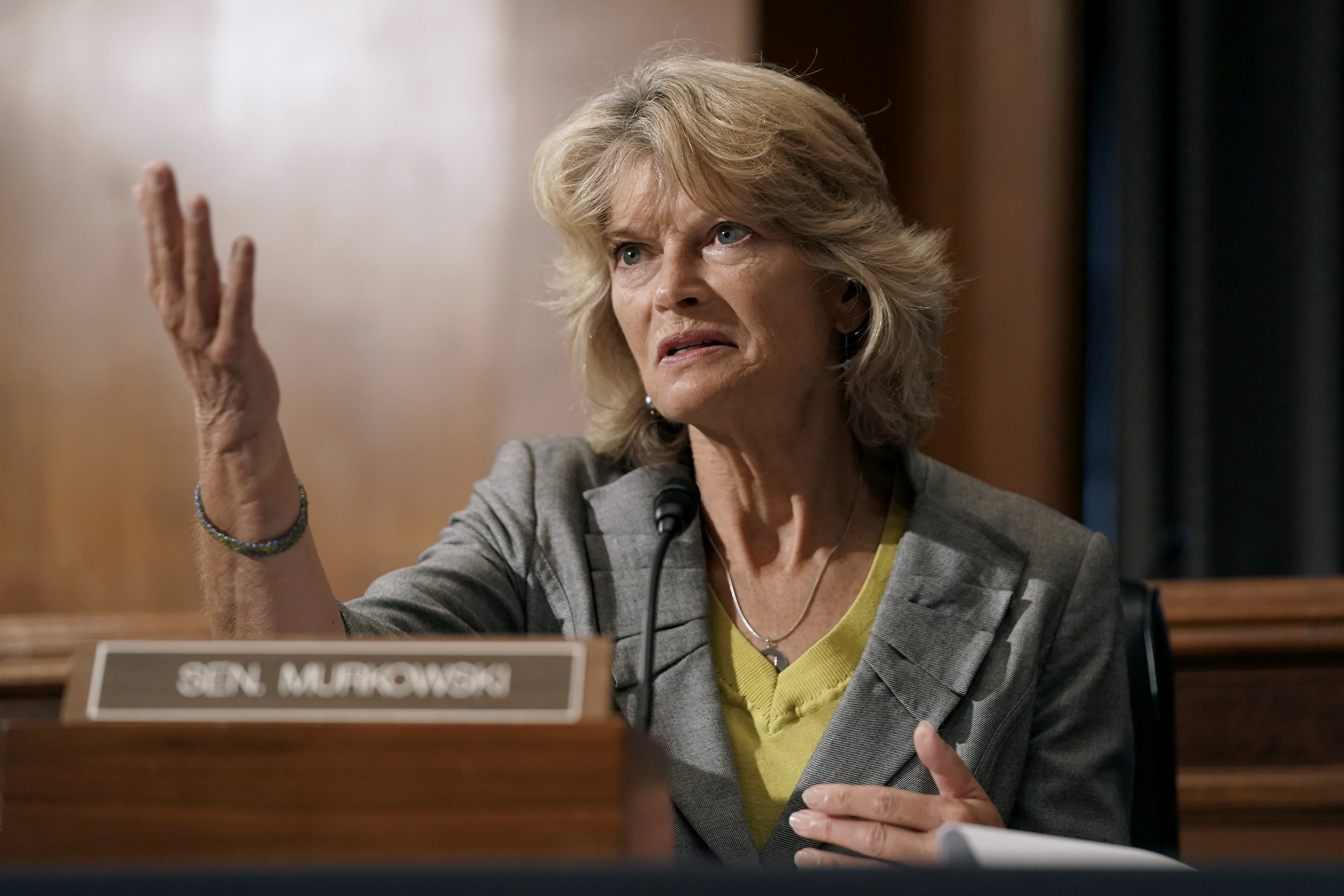 The Latest: Murkowski won't back court vote before election