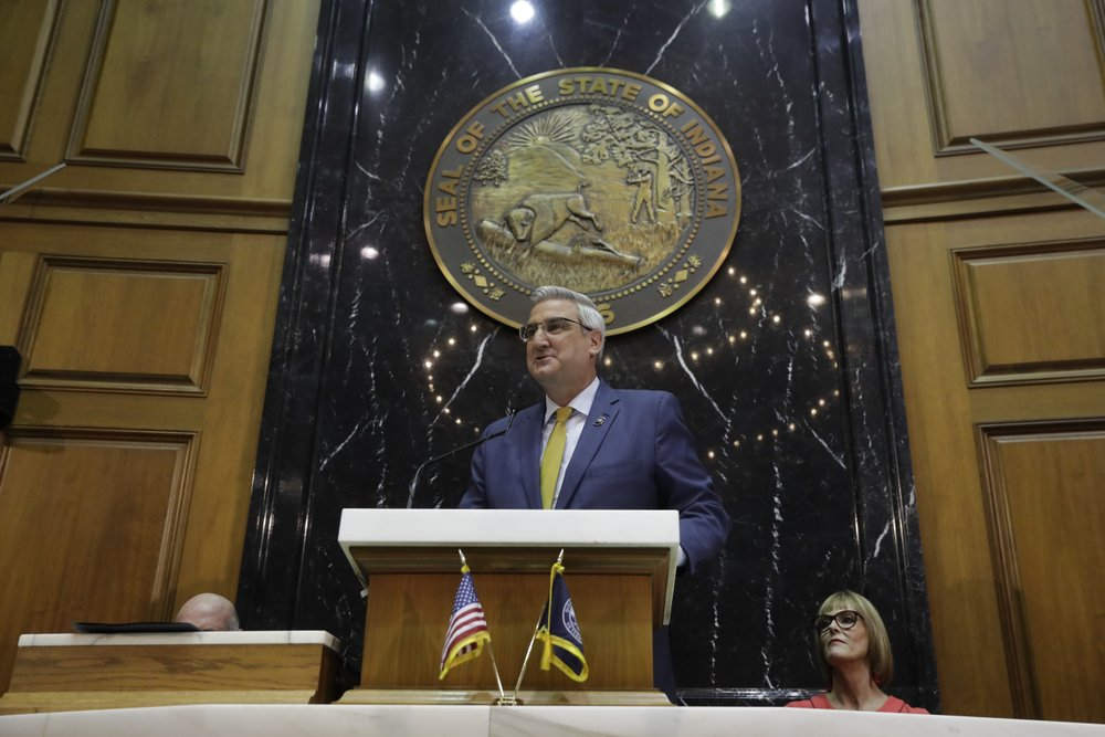 Image for Indiana governor says again wait a year on teacher pay boost