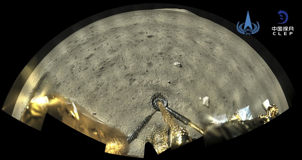 China's moon probe preparing to return rock samples to Earth