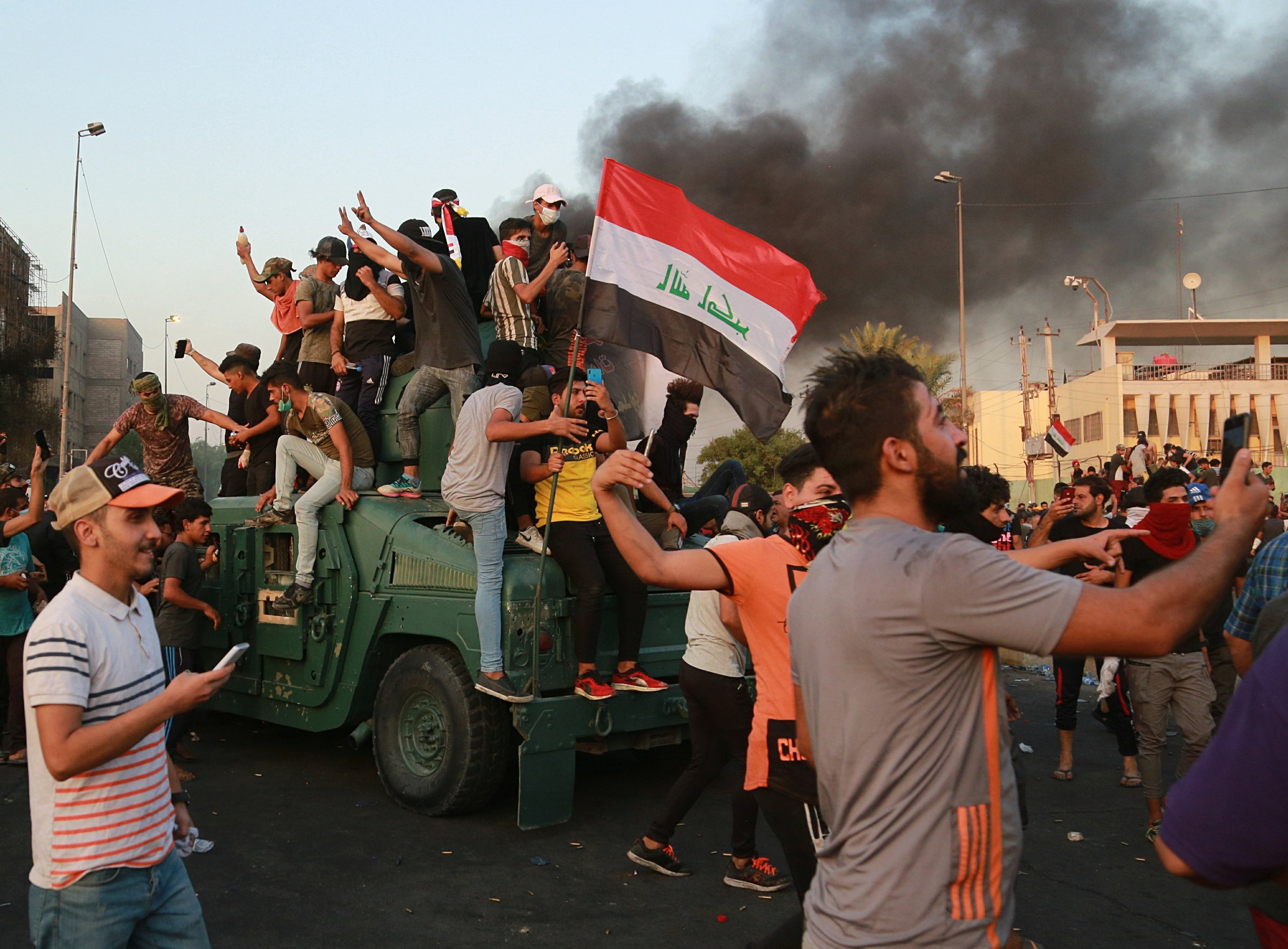 Iraqi PM addresses nation as protests death toll rises to 42