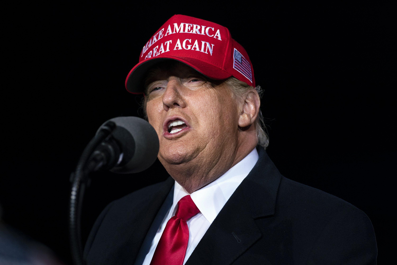 Trump decries FBI probe of supporters surrounding Biden bus