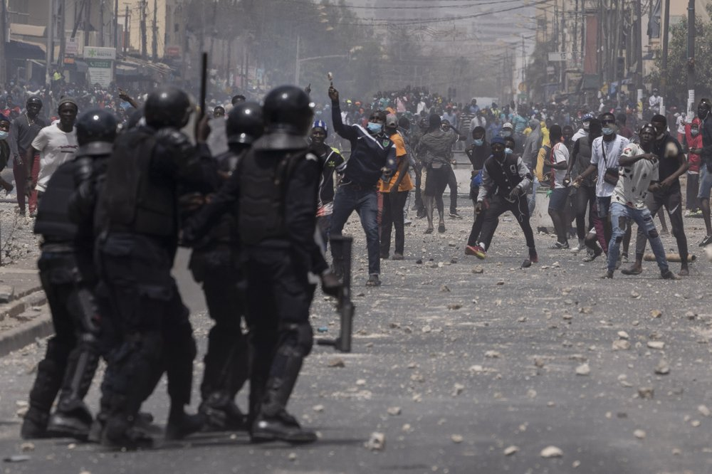 Why are Senegal protesters clashing with police?