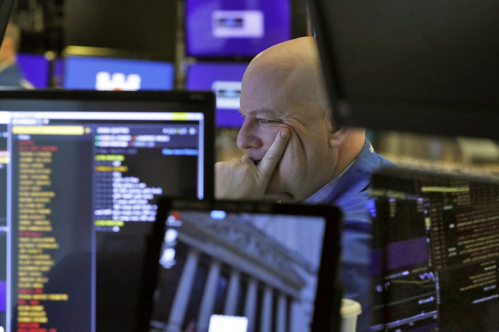Steep drops for stocks and bond yields