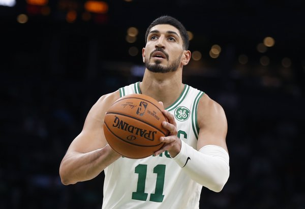 Enes Kanter Wears 'Modern Day Slavery' Shoes in Protest of Uygher Treatment and Says Nike is 'Scared to Speak Up' Against China