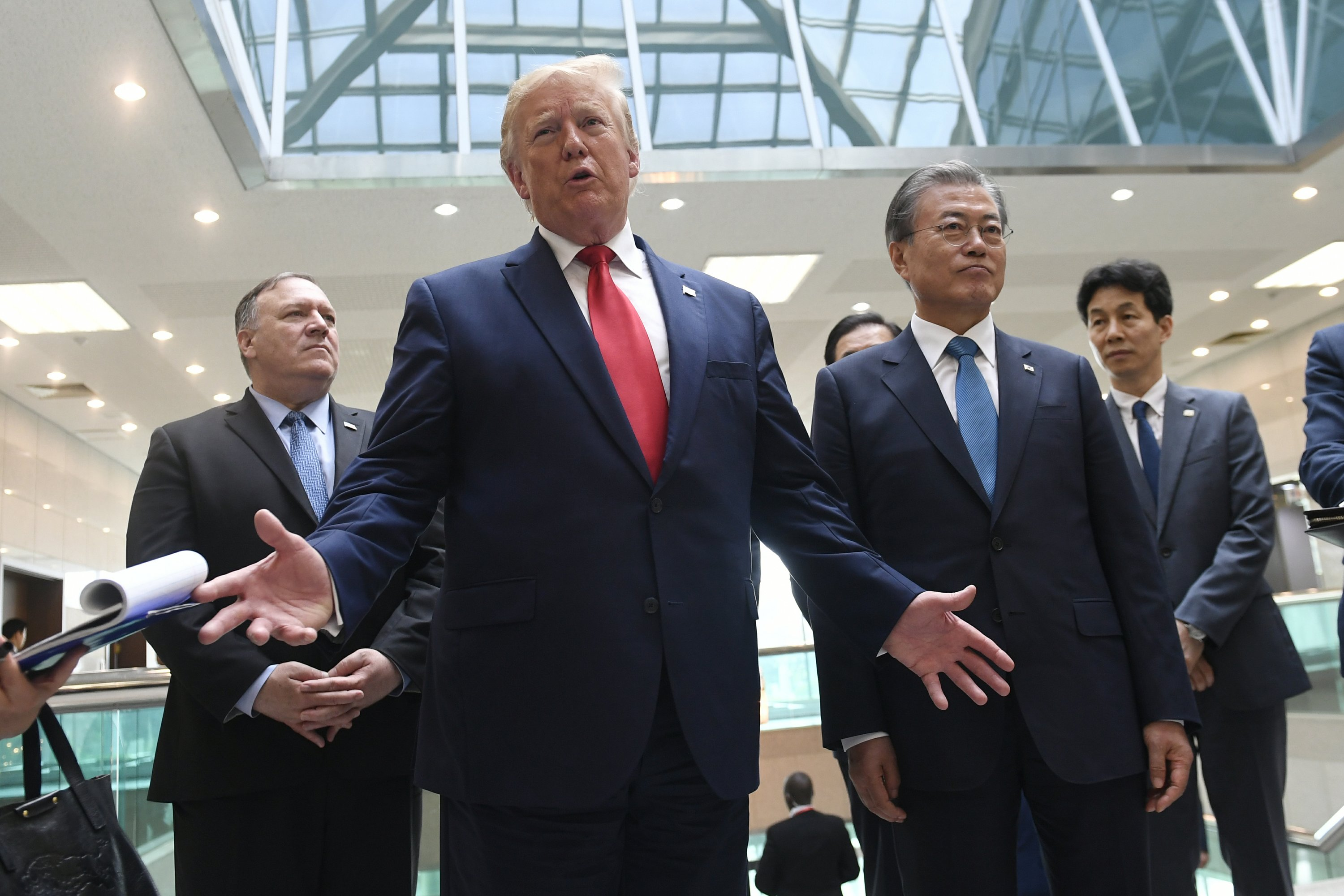 AP FACT CHECK: Trump on NKorea, wages, climate; Dem misfires