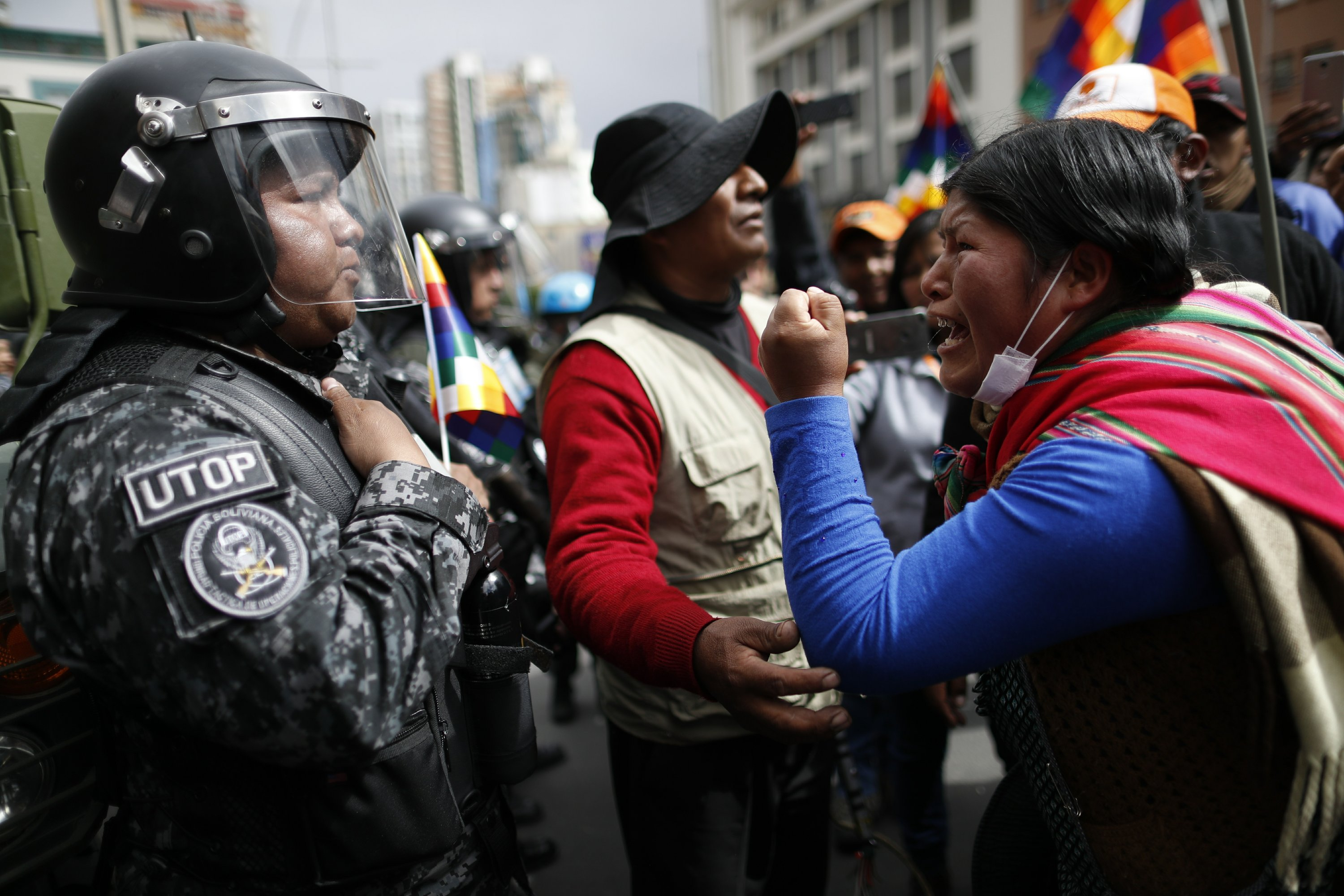 Tensions rise as Bolivia opposition leader claims presidency