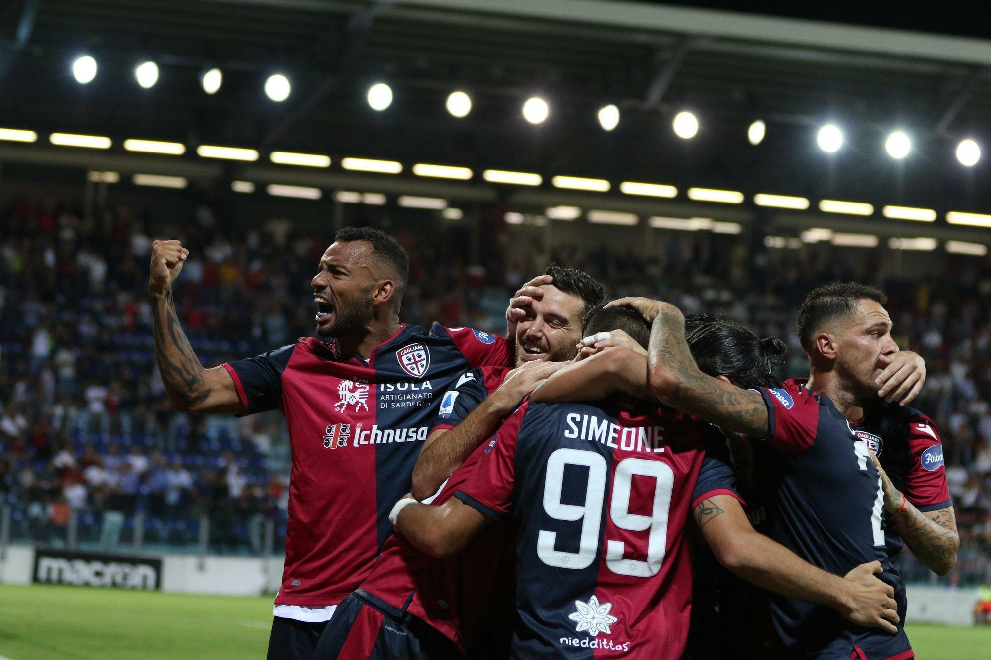 Cagliari wins 1st home match since racist Lukaku chants