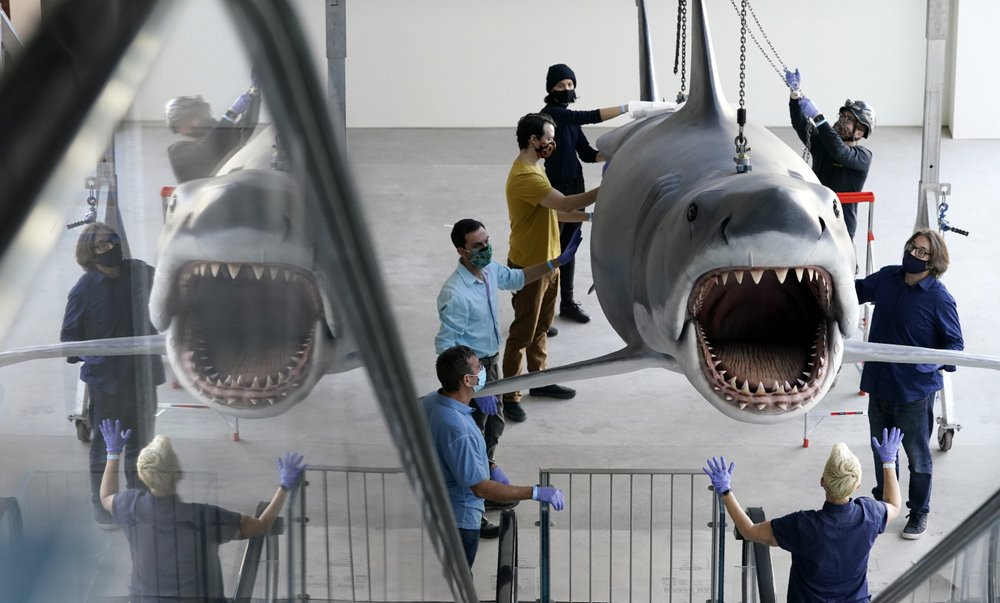 "The last ""Jaws"" shark Bruce takes his place at the Academy Museum of Motion Pictures"
