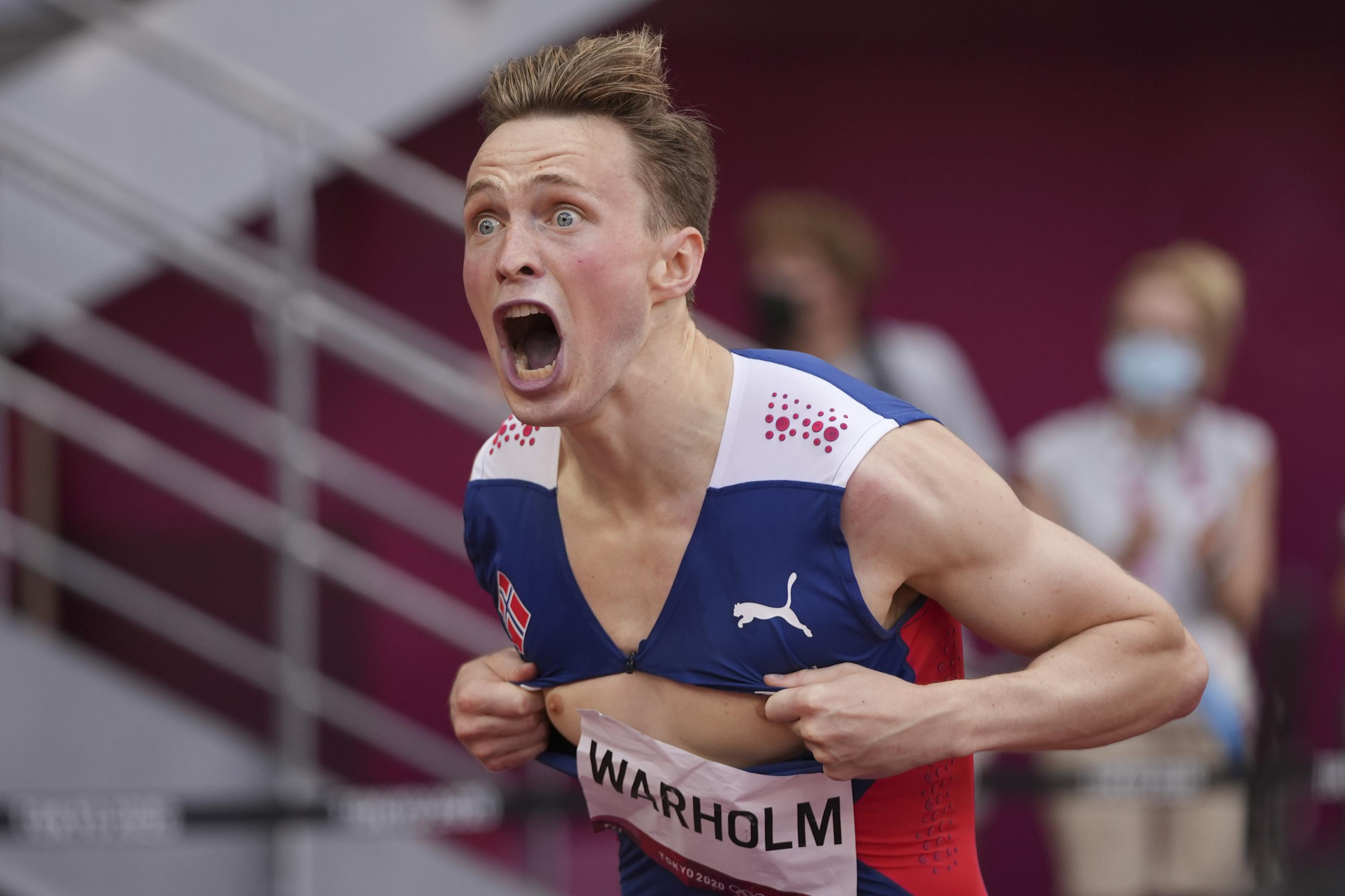 Warholm's evolution: From running in jeans to world records - Associated Press