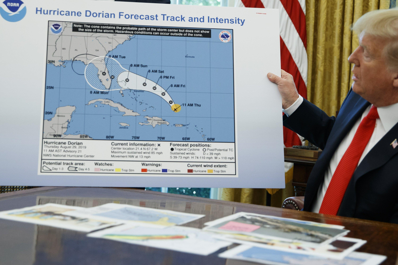 Agency reverses course on Trump's Alabama hurricane claim